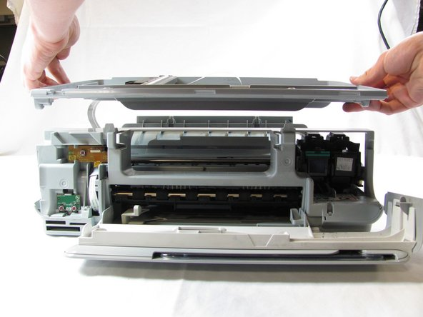 Rotate the printer 90 degrees clockwise.