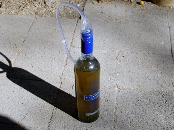Don't let that bottle of brake fluid sit around long - in this bottle, it looks pretty refreshing! And there's a convenient straw....