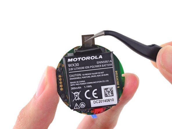 Motorola has graciously included a pull tab to ease removing the Moto 360's battery. Considering the work it took to get here, it feels like a bit of a joke—sort of like handicap-accessible bathrooms on the second level of a store that has no elevator.