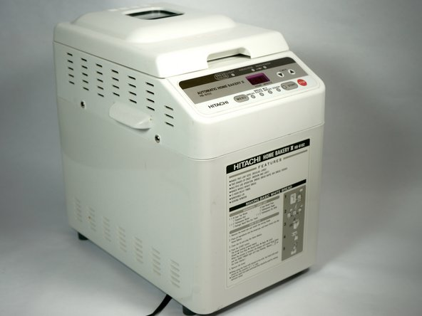 White Hitachi HB-B201 Plus Bread Machine Automatic Home Bakery