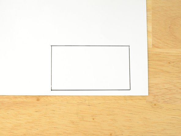 Trace the shape of your baffle onto some cardstock or heavy paper.