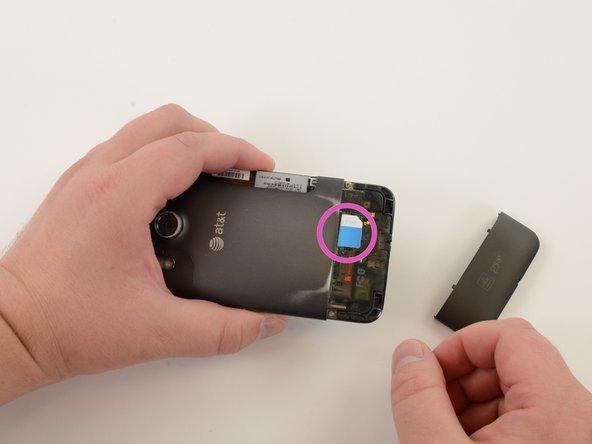 Slide SIM card out.