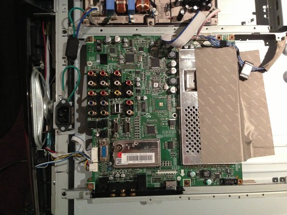 Removing the Samsung LA40R81BD 40in LCD TV Main Board