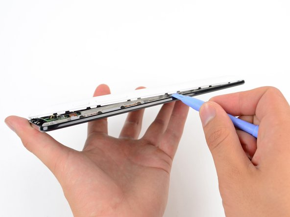 Plastic opening tools make cracking the Nexus shell like cutting through butter, thanks to its retaining clips around the perimeter of the device.
