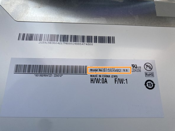 Before ordering a new screen make sure that you order the correct model number that is compatible with your old screen.