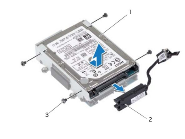 If applicable, slide the secondary hard drive into the hard-drive bracket.