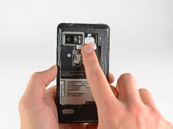 We've found the elusive 4G LTE SIM card! Hidden beneath the microSD card, the 4G LTE SIM card sits... and waits.