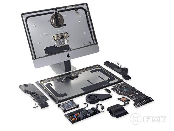 """iMac Intel 21.5"""" Retina 4K Display Repairability Score: 1 out of 10 (10 is easiest to repair)"""