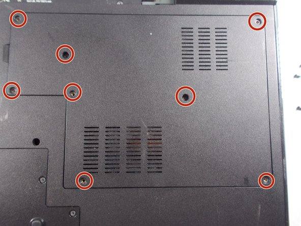 Unscrew the eight 6mm screws with a Philips #1 screw driver.