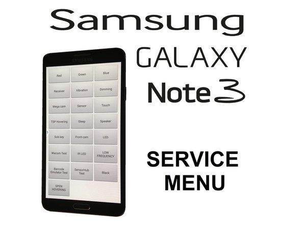 三星盖乐世Note3服务菜单