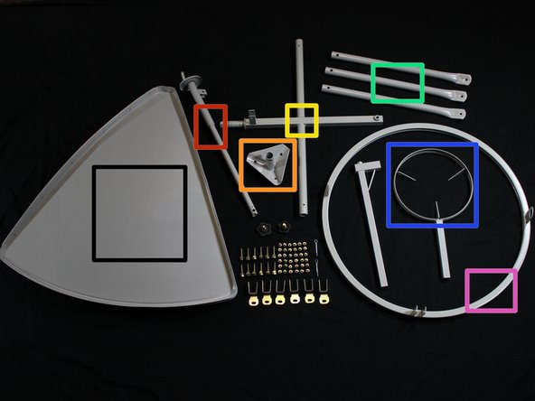 An inventory for all parabolic solar cooker parts follows below.