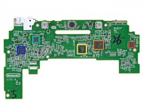 The backside of the GamePad's motherboard: