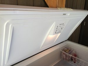 Fasteners for repairing a chest freezer lid