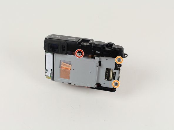 Remove the 2.5 mm screw in the center, above the removed LCD screen.