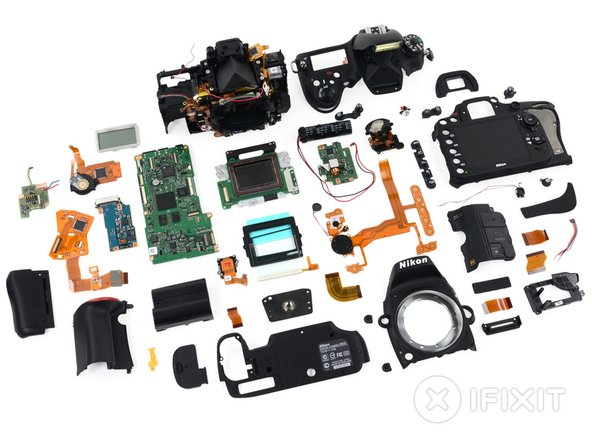 Nikon D600 Repairability Score: 2 out of 10 (10 is easiest to repair)