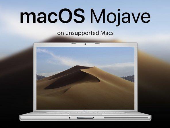 Hoe installeer je macOS Mojave op Mac's die dit niet ondersteunen?