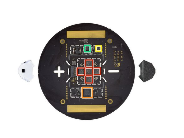 De-shielding that board shows us some of the fun that's running the light show up top: