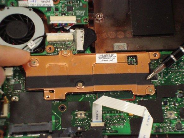 Disassembling Compaq Mini 110 Heat Sink
