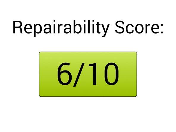 Repairability score: 6/10