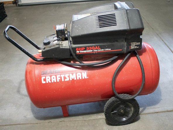 Obtain an air compressor. (you can rent one from the local Home Depot)