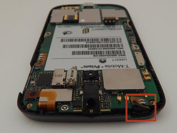 Locate the power button sensor strip.