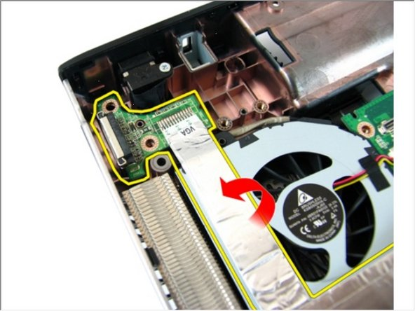 Remove the VGA board from the chassis.