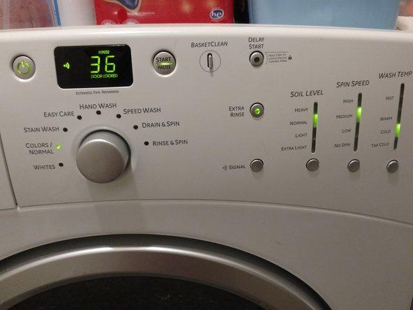 Washing Machine Switch Replacement (fix control board)