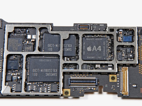 A shot of the logic board minus the steel EMI shield.