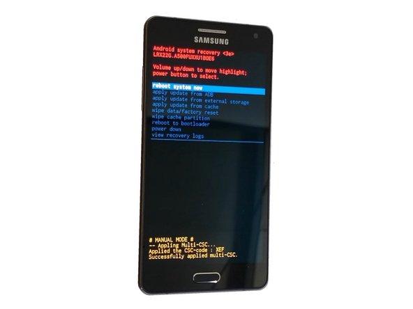 Zurücksetzen des Samsung Galaxy A5 auf Werkszustand