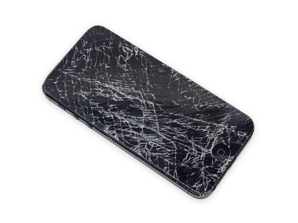 ディスプレイガラスが飛散している場合は、さらに広がらないようにガラス上にテープを貼ってください。