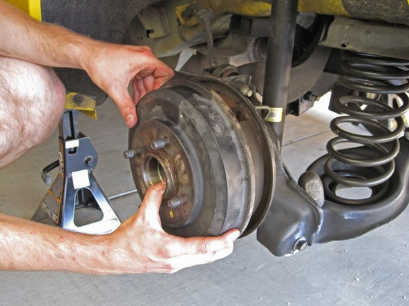 Pull the brake drum straight away from the hub assembly to remove it.