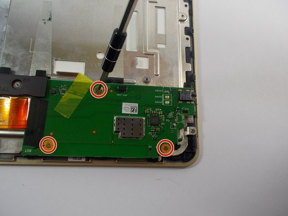 Use the +J000 to remove three screws from soundboard.