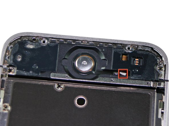 A peek at the underside of the home button.