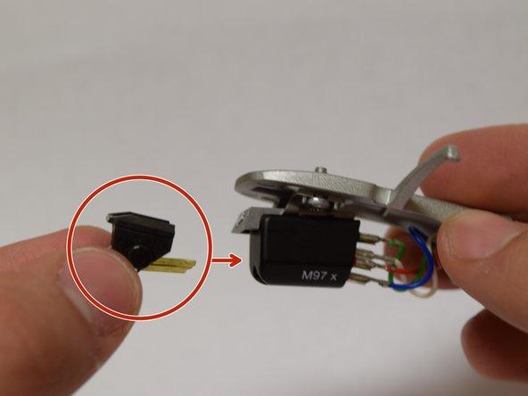 Insert new stylus into cartridge before mounting headshell
