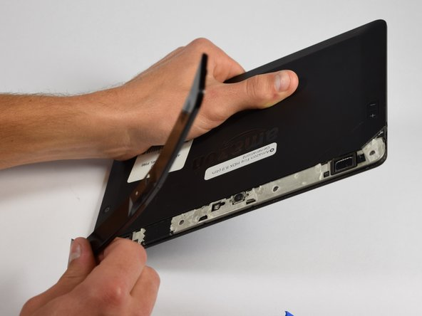 Once you reach the end of the plastic cover you should be able to completely remove it from the device.