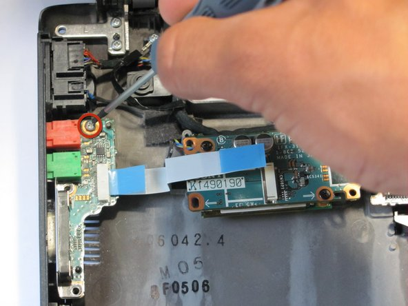 Remove the screws for the second ethernet circuit board.