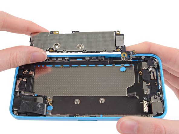 Remove the logic board from the rear case.