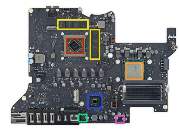 Let's see what ICs this unsurprisingly familiar logic board is packing: