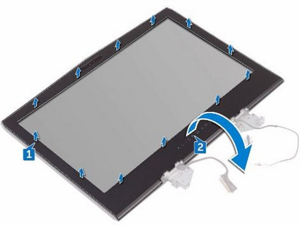 Peel off the tape that secures the logo-board cable to the logo board and disconnect the logo-board cable from the logo board.