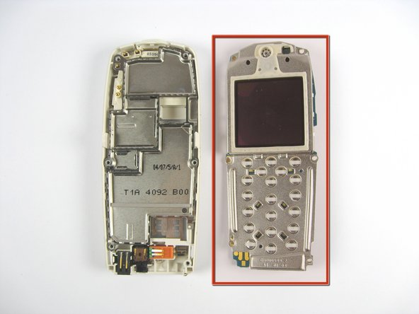 Separate the screen assembly from the base of the phone.