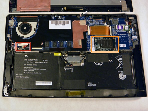 Sony Vaio Tap 11 Solid State Disk Replacement