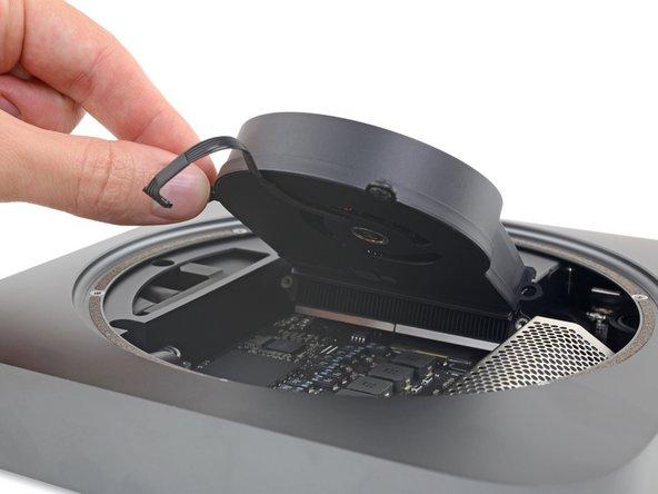 Remove the fan.