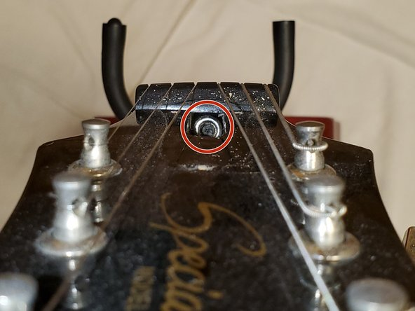 Insert the hex key into the truss rod bolt where the neck meets the head-stock and adjust the truss rod tension as needed.