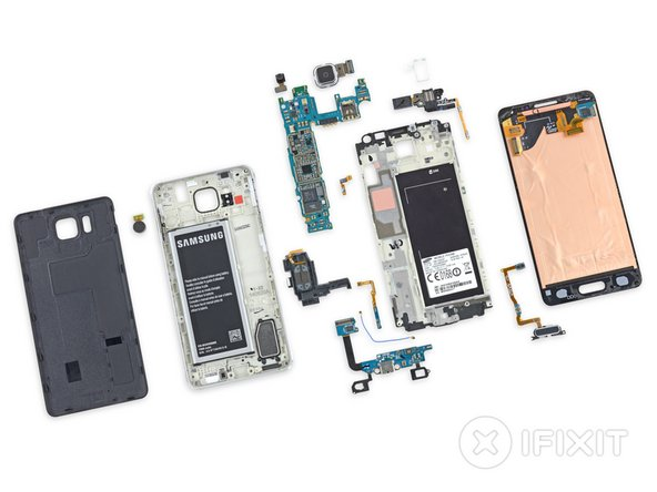 Samsung Galaxy Alpha Repairability Score: 5 out of 10 (10 is easiest to repair).