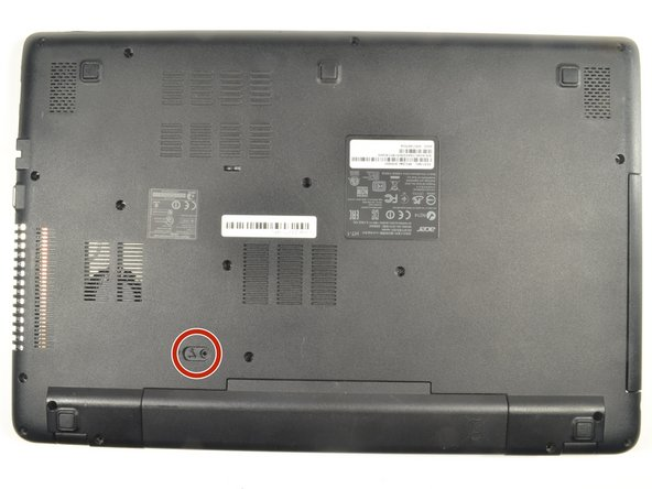 Ensure the laptop is powered down prior to beginning.
