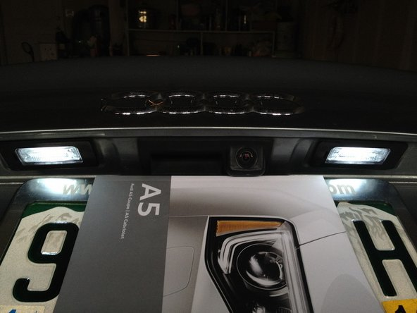 Install Audi A5 LED License Plate Lights