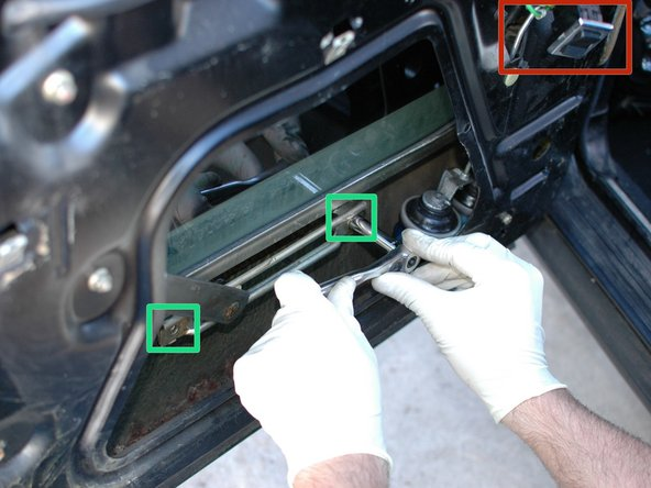 Use the switch to move the power window down until the bottom rail of the glass is exposed. Notice that the switch is installed in the plug as mentioned in the previous step.