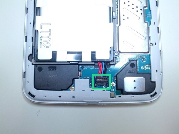 Once the back cover has been detached, you might want to detach the battery first to lighten the Tab's body when flipping around