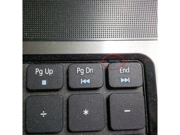 To remove the keyboard, pop the three latches away from the keyboard with a spudger.