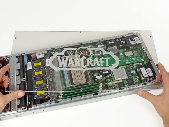 The transparent panel covering all the mechanical madness inside the server blades provides shoddy protection, but is nonetheless ornate.